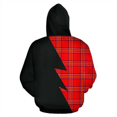 Tartan All Over Zip-Up Hoodie - Burnett Clans Badge - BN