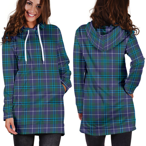 Douglas Modern Tartan Hoodie Dress HJ4 |Women's Clothing| 1sttheworld