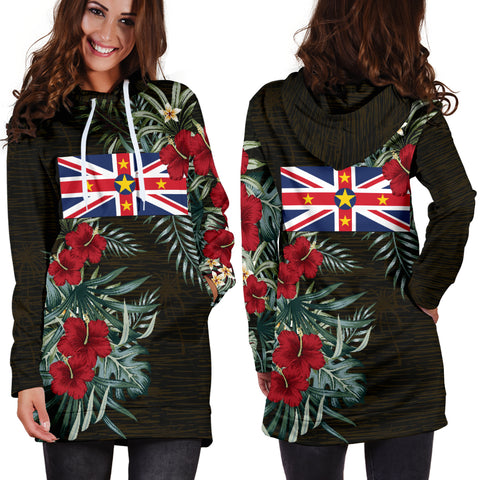 Image of Niue Hibiscus Hoodie Dress A7