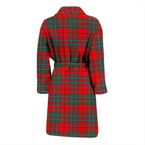 Image of Cumming Modern Bathrobe - Men Tartan Plaid Bathrobe Universal Fit