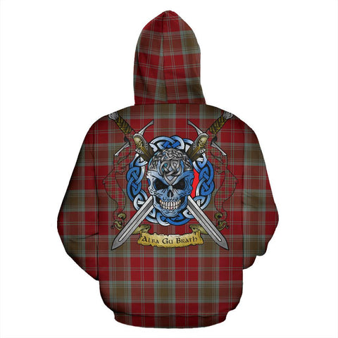 Lindsay Weathered Tartan Hoodie Celtic Scottish Warrior A79 | Over 500 Tartans | Clothing | Apaprel