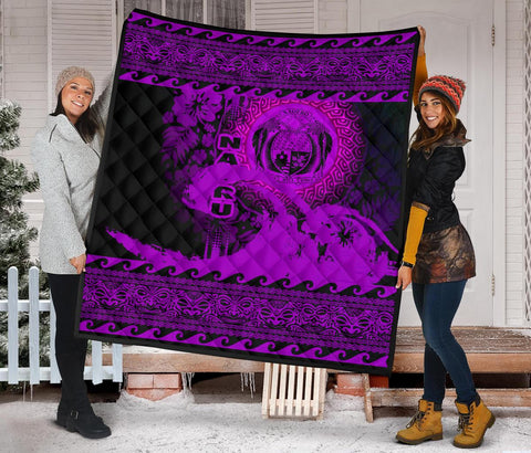 Image of Nauru Quilt Wave Pureple Design K62