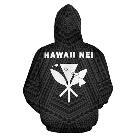 Image of - Hawaii Kanaka Polynesian Hoodie White - AH - J71
