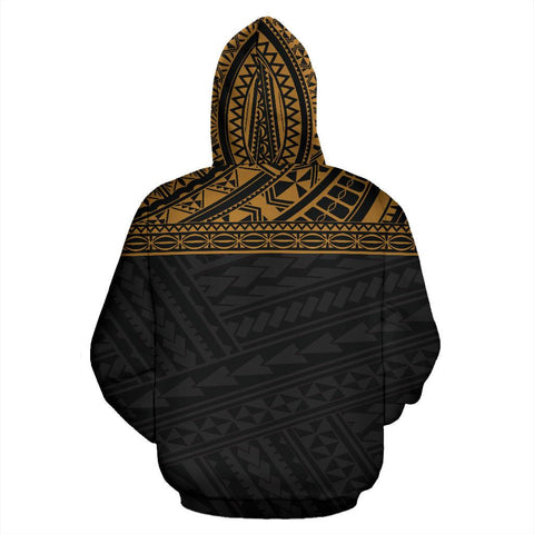 Image of Poly All Over Zip-Up Hoodie - Polynesian Gold Custom Version - BN09