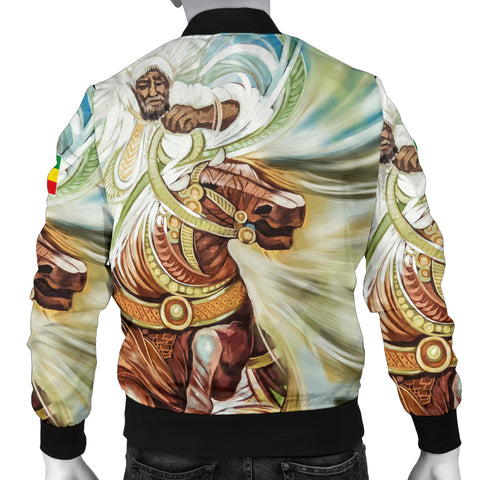 Image of Ethiopian Bomber Jacket, Proud Ethiopian Flag Men A10