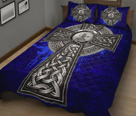 Maitland Crest Scottish Celtic Cross Scotland Quilt Bed Set | Over 300 Clans | Home Set