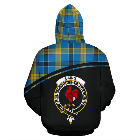 Image of Laing Tartan Custom Personalised Hoodie - Curve Style Back