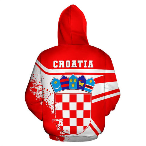 Image of Croatia Hoodie Painting Style Th52