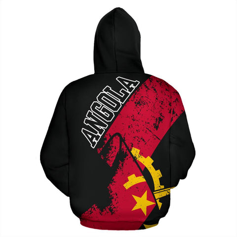 Angola Hoodie Zip Special Grunge Flag | High Quality | Love The World