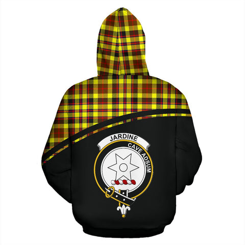 Image of Jardine Tartan Custom Personalised Hoodie - Curve Style Back