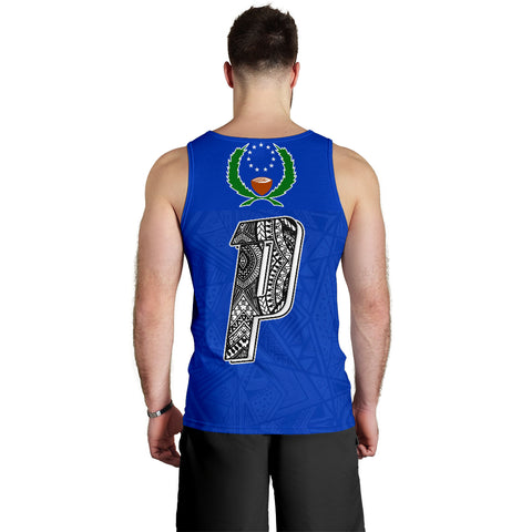 Image of Pohnpei Flag Men's Tank Top Micronesian Pattern - BN09