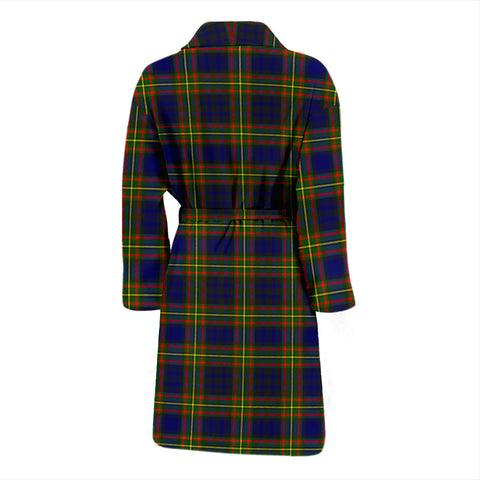 Clelland Modern Bathrobe - Men Tartan Plaid Bathrobe Universal Fit