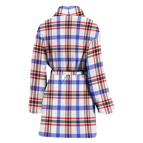 Boswell Modern Bathrobe - Women Tartan Plaid Bathrobe Universal Fit