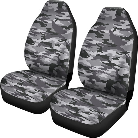 Camo Car Seat Covers - Black And White Version - BN07