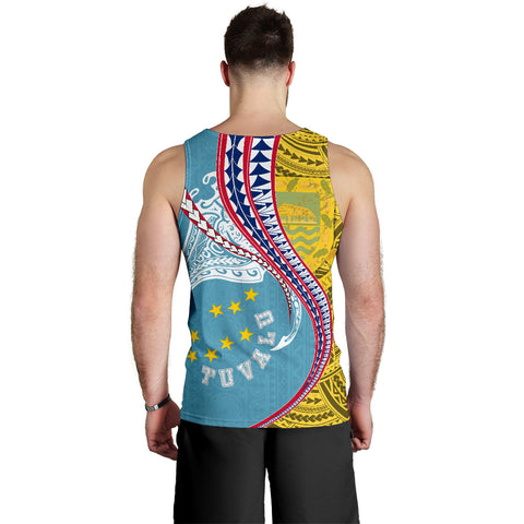 Tuvalu Men's Tank Top Manta Polynesian TH65