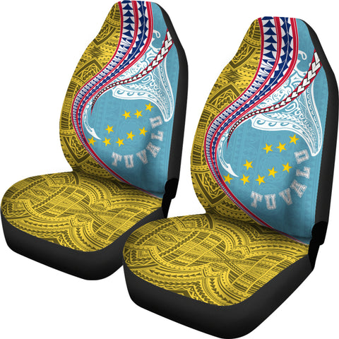 Tuvalu Car Seat Covers Manta Polynesian TH65