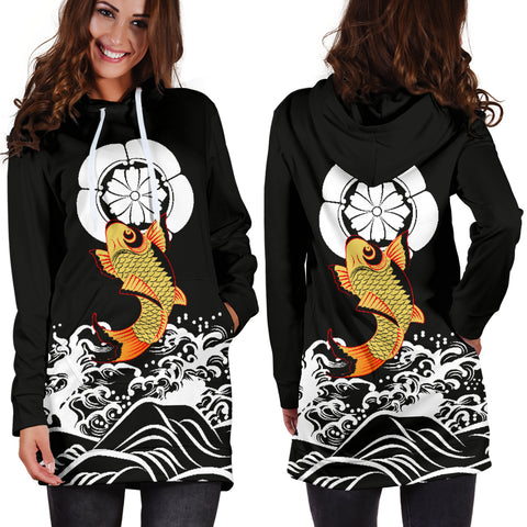 The Golden Koi Fish Hoodie Dress A7