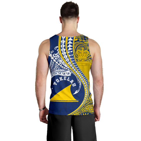 Tokelau Men's Tank Top Manta Polynesian TH65