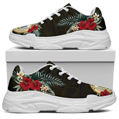 Hawaii Hibiscus (Men - Women) Chunky Sneakers A7