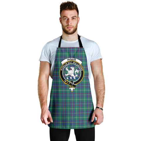 Image of Inglis Ancient Tartan Clan Crest Apron HJ4