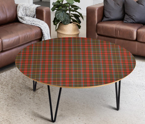 MacKintosh Hunting Weathered Tartan Circular Coffee Table - BN