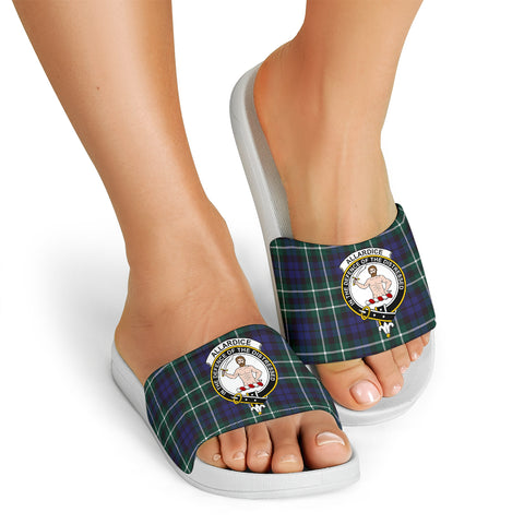 Tartan Slide Sandals - Allardice Clans - White Version