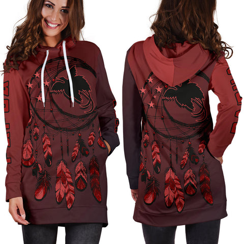 Papua New Guinea Dreamcatcher Hoodie Dress A02 |Women's Clothing| 1sttheworld