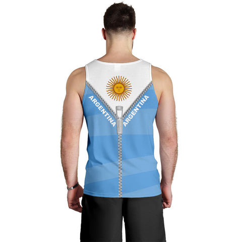 Argentina Men Tank Top With Straight Zipper Style K52