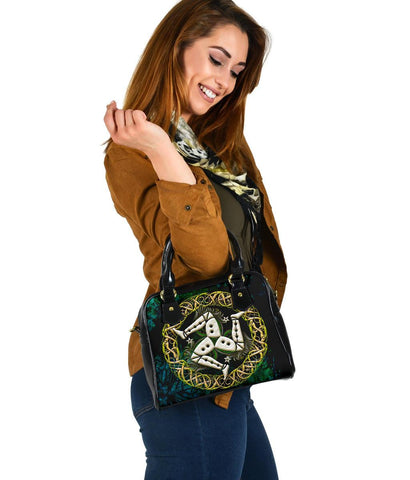 Celtic Shoulder Handbag  - Isle of Man With Celtic Patterns - BN18