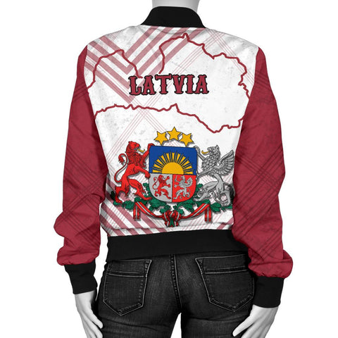 Latvia Women Bomber Jacket K5