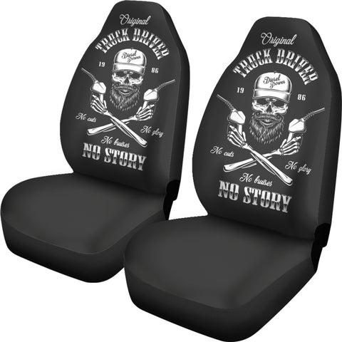 Image of Skull Driver Car Seat Cover K9