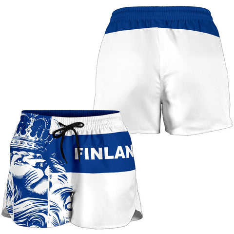 Finland Lion All Over Print Women's Shorts Bn10