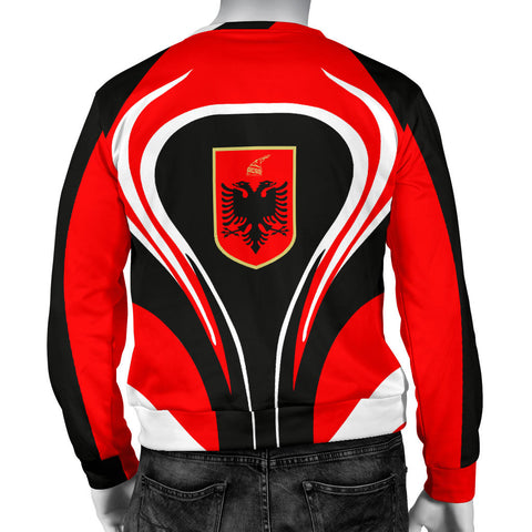 Albania Flag Men's Sweater Cannon Style back