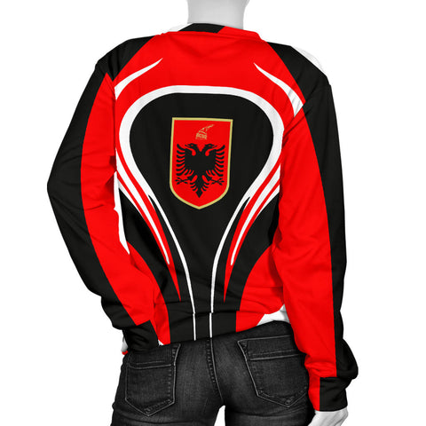 Albania Flag Women's Sweater Cannon Style Back