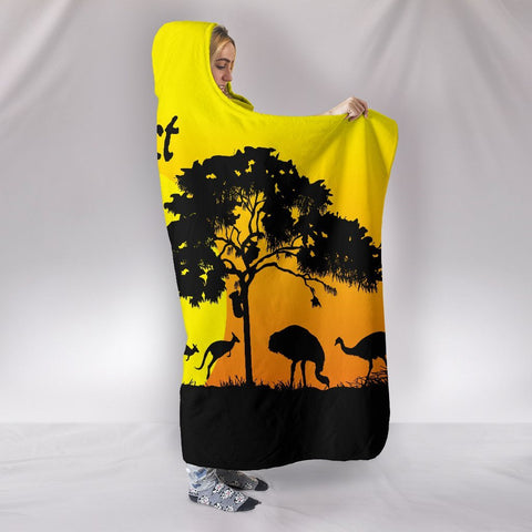 (Custom text) 1sttheworld Hooded Blankets - Sunset Australia View - BN17