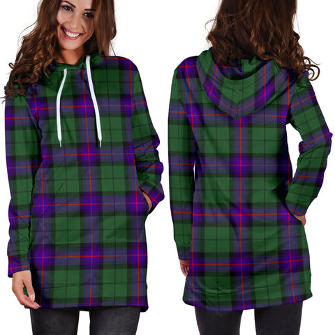 Armstrong Modern Tartan Hoodie Dress HJ4 |Women's Clothing| 1sttheworld