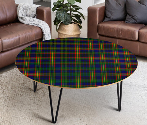 Clelland Modern Tartan Circular Coffee Table - BN