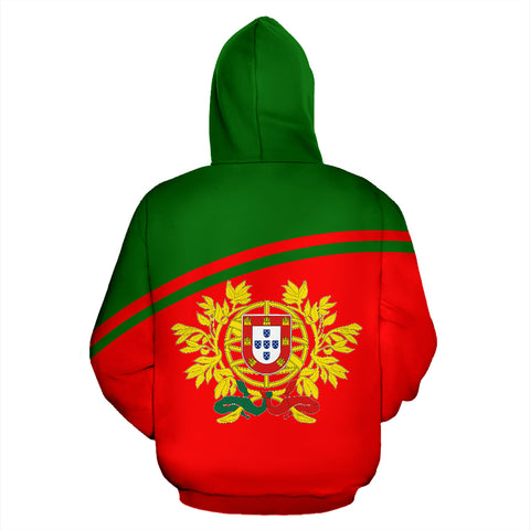 Portugal All Over Zip-Up Hoodie - Curve Version - Bn01