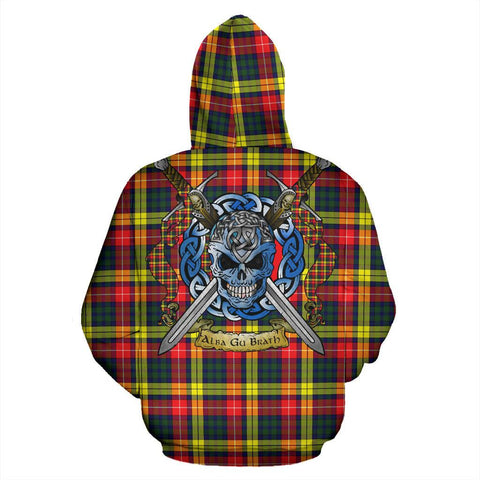 Buchanan Modern Tartan Hoodie Celtic Scottish Warrior A79 | Over 500 Tartans | Clothing | Apaprel