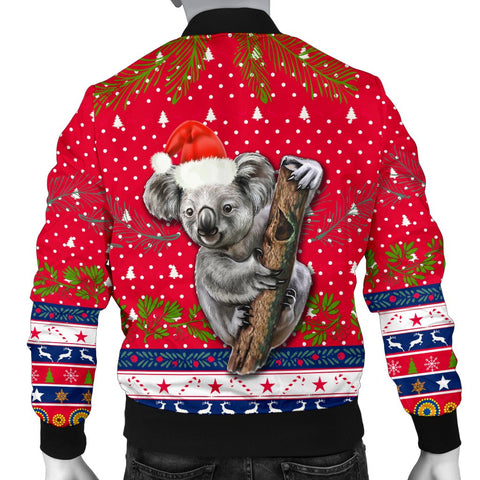 Australia Christmas Aboriginal Men Bomber Jacket Koala Version Back | 1sttheworld
