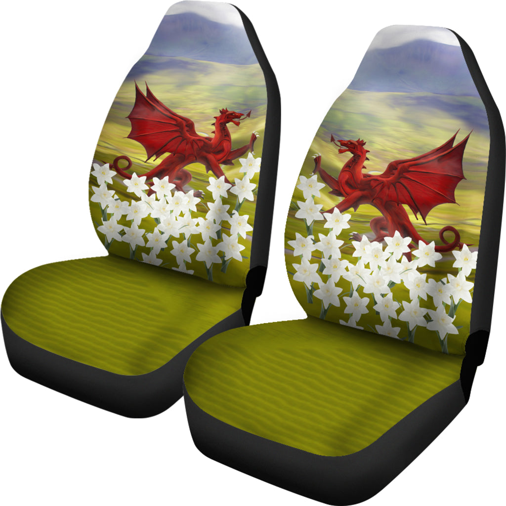 Wales Dragon And Daffodil Car Seat Covers 02