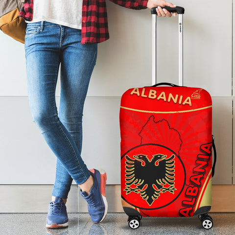 Albania Luggage Covers Circle Stripes Flag Version 1 | 1sttheworld