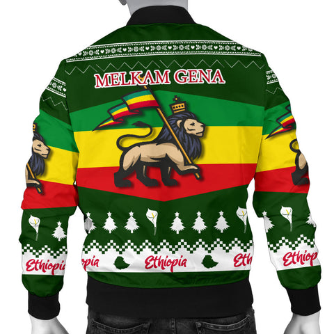 Ethiopia Christmas Bomber Jacket Men K5