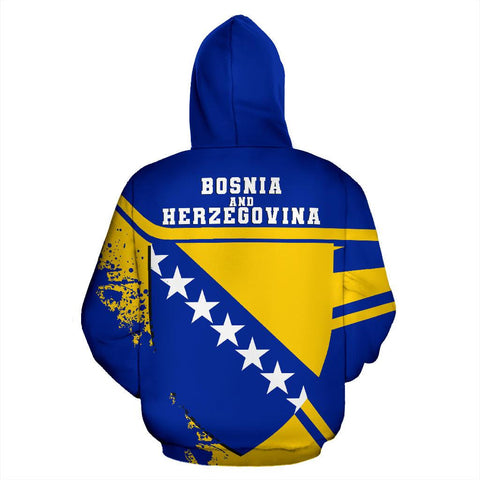 Image of Bosnia and Herzegovina Hoodie Painting Style Th52