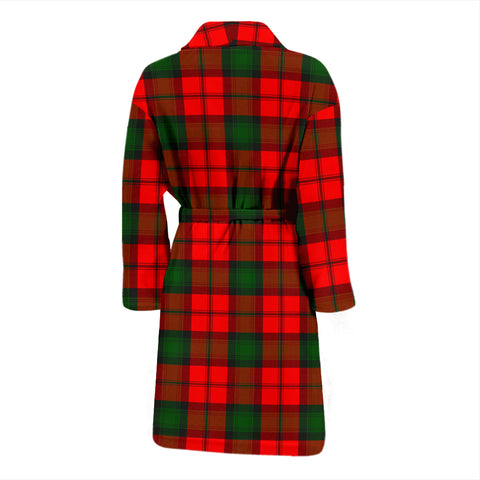 Kerr Modern Bathrobe - Men Tartan Plaid Bathrobe Universal Fit