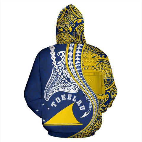 Image of Tokelau All Over Zip-Up Hoodie Manta Polynesian TH65