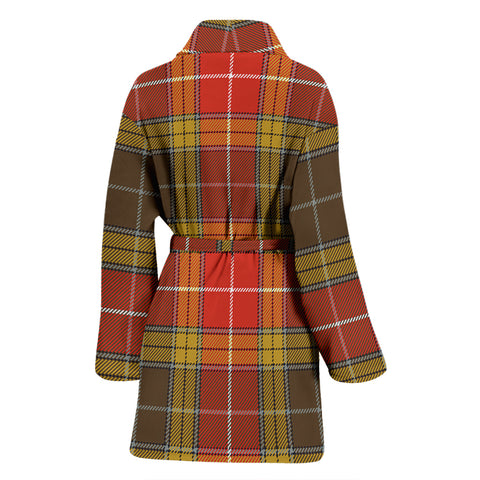 Image of Buchanan Old Set Weathered Bathrobe - Women Tartan Plaid Bathrobe Universal Fit