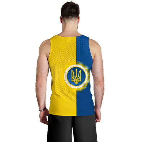 Ukraine Men Tank Top Special Coat Of Arms Back | 1sttheworld