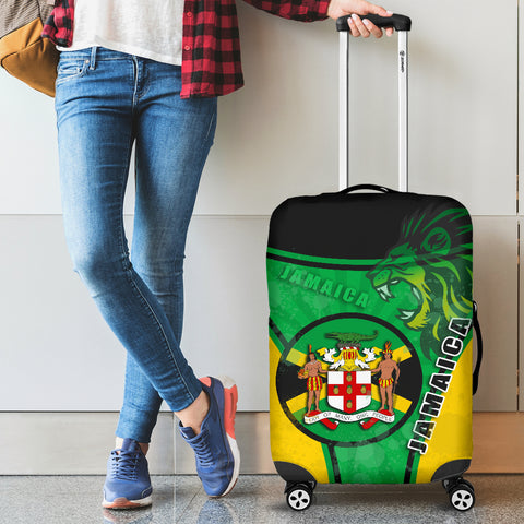 Jamaica Lion Luggage Covers Circle Stripes Flag Version 1 | 1sttheworld