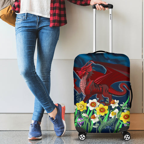 Image of Welsh Luggage Covers - Dragon Daffodil A024